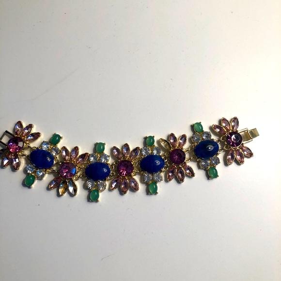 Talbots pink/blue/green sparkle bracelet